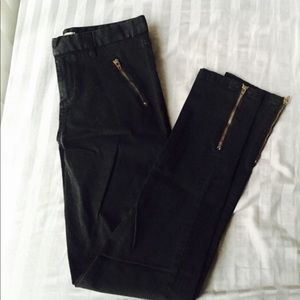 Black Zipper Cargo Skinny Pants Size 6 NWOT